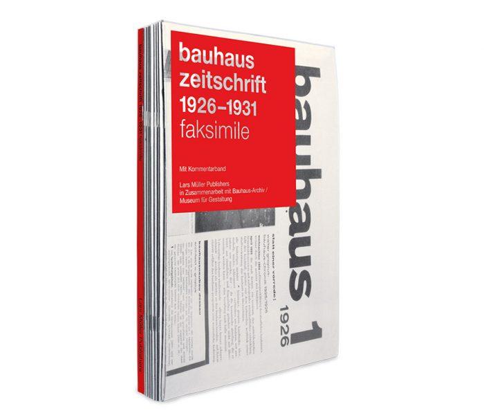 """Ein publizistisches Highlight im Bauhaus-Jubiläumsjahr bildet die Herausgabe der 1926 bis 1931 erschienenen Zeitschrift """"bauhaus"""" als Faksimile durch Lars Müller Publishers."""