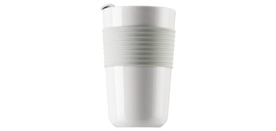 Der Becher to go von Thomas im Design der Kollektion ONO ist eine attraktive Zero-Waste-Alternative zu Papp- und Plastikbechern.