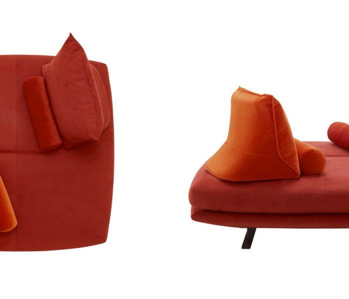 Das Funktionssofa Prado, entworfen von Christian Werner, zählt zu den Bestsellern von Ligne Roset. Neue Elemente erweitern 2019 die Nutzungs- und Gestaltungsmöglichkeiten.