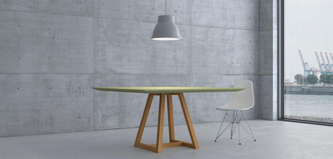 Die hochwertige Echtholz-Serie Margo aus dem Hause Vitamin Design bringt alles mit, was den Tisch zum Vorzeigemöbel par excellence werden lässt.