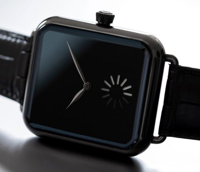 Optisch eine Smartwatch, in Wahrheit eine smarte mechanische Uhr: die Moser Swiss Alp Watch.