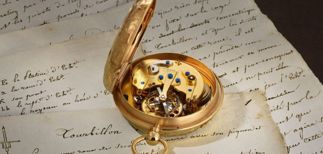 Das Tourbillon, Breguets berühmteste Erfindung, soll den von der Lage der Uhr abhängigen Einfluss der Schwerkraft auf die Ganggenauigkeit aufheben. Vor 220 Jahren erhielt der 1747 in Neuenburg in der Schweiz geborene Uhrmacher ein Patent auf die bis heute begehrte Komplikation.