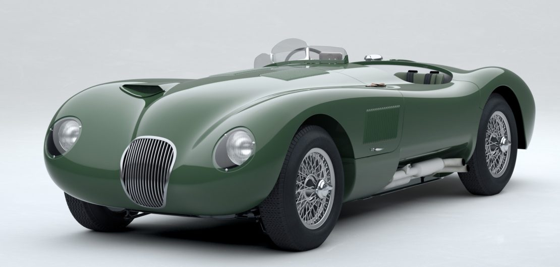 Der Jaguar C-Type wirkt wie in Blech gegossene Geschwindigkeit. Die Designgeschichte kennt nur wenige Formen, die dermaßen konsequent von der Funktion abgeleitet wurden und dennoch einen solch starken sinnlichen Reiz ausüben. Zum 70. Geburtstag wird der ikonische Rennwagen neu aufgelegt.