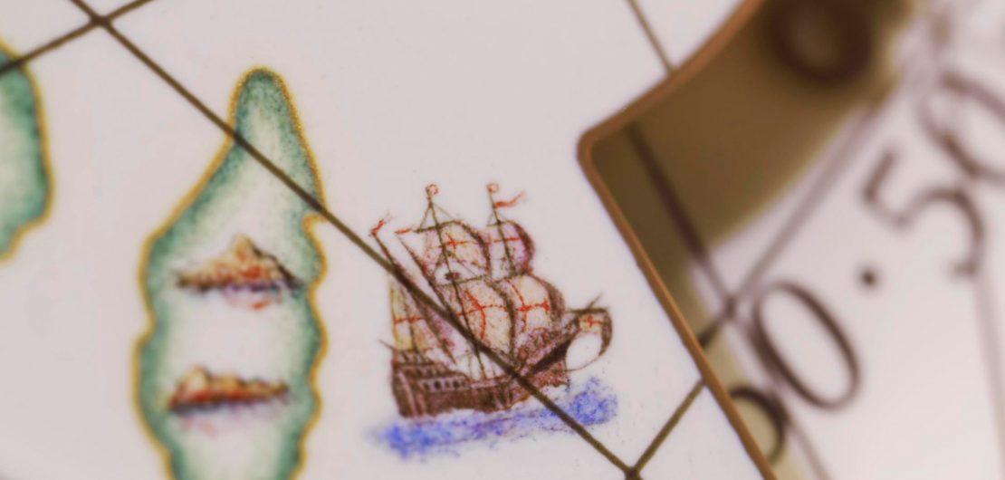 Da Zeit das Wertvollste überhaupt ist, wird die Begeisterung für Uhren vermutlich nie enden. Wir zeigen einige der schönsten Beispiele der Métiers d'Art. Im Bild ein Detail eines Vasco da Gama gewidmeten Modells von Vacheron Constantin.