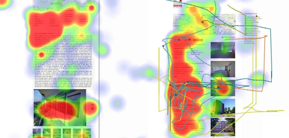 Eyetracking und Usability: Verborgenes sichtbar machen – Screenshot (Ausschnitt) aus demEinsatz der EYEVIDO-Lösung.