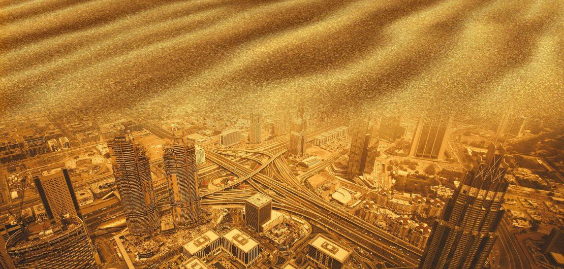 Der weltweite Bauboom führt zur Verknappung der für die Herstellung von Beton benötigten Sande und zu immer größeren CO2-Mengen durch die Zementherstellung.